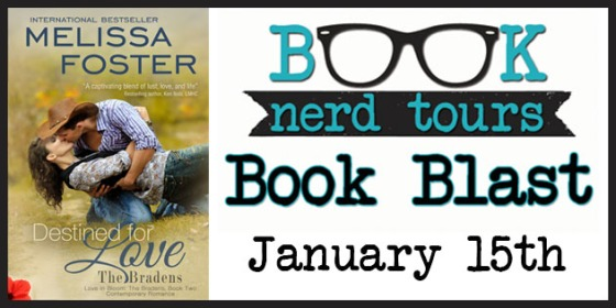 {Nerd Blast} & GIVEAWAY — Destined for Love by Melissa Foster