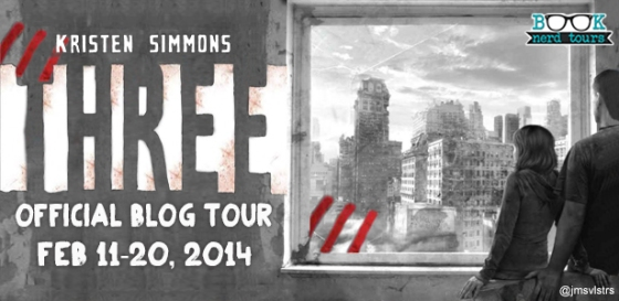 Blog Tour & GIVEAWAY — Three by Kristen Simmons