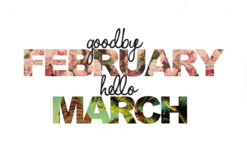 Hello {march}, Goodbye {february} Such A Novel Idea